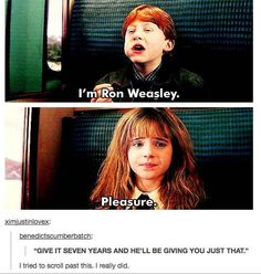 """When they found this bit of foreshadowing. 