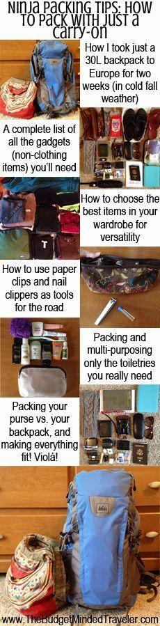 Love a bit of ninja packing inspiration