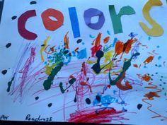 Colorful preschool craft