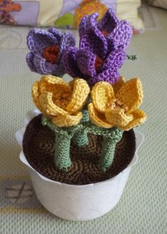 Crochet potted plant...