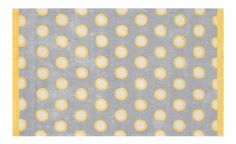 Yellow polka rug