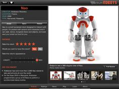 Robots for iPad app - The IEEE app that profiles 126 real robots