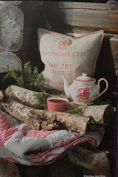 Quilts and tea by the fire? Yes, please.