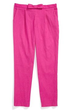 Milly Minis Bow Pants (Toddler Girls, Little Girls & Big Girls) | Nordstrom
