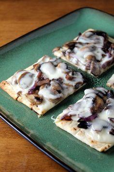 Kitchen Trial and Error: mushroom marsala fontina flatbread