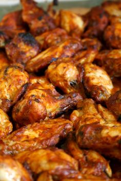 jackie's chicken wings. Bake first, then marinate in fridge for a day then re-bake.