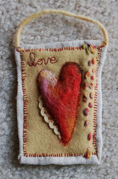 """Love"" mini-quilt 