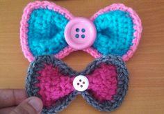 button, bow lacinho, crochet bows