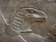 bd436 babylonian, bird god, birds, babylonian bird