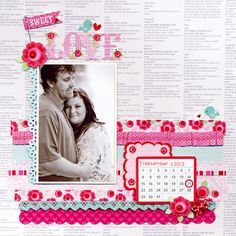 Sweet Love featuring new Lovebirds Collection from Doodlebug Design - Scrapbook.com