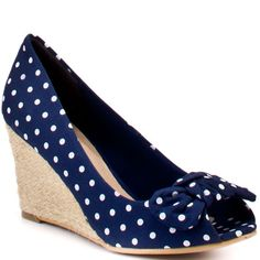 polka dot wedges for summer