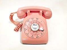 WORKING Pink Rotary Phone 60s by TheRotaryShoppe on Etsy http://media-cache8.pinterest.com/upload/17451517276263830_YbsGJDu7_f.jpg a2seacreations random stuff i love phone 60s, pink rotari, pink phone, rotari phone, retro phone, pretti, retro pink, vintag thing, work pink