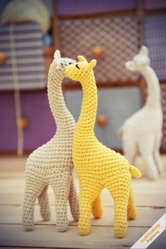 Giraffe Crochet Pattern - cuties!