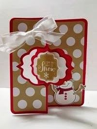 Peanuts and Peppers Papercrafting: Make It Monday - Stampin' Up! Best of Snow Christmas Card