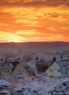 Winter sunset - Oxford, England