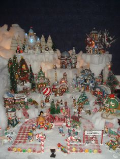 Christmas Mountain Village Display