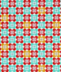 Joel Dewberry Square Petals Poppy Fabric - $8.9 | onlinefabricstore.net