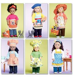 American Girl Clothes Patterns Free   DOLL CLOTHES PATTERN For American Girl Dolls / Artist - Chef ...
