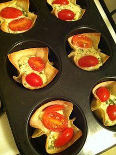 Italian appetizer, wonton style