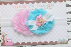 Bubble guppy headband pink and aqua Infant by DanicasChicBowtique. , via Etsy.