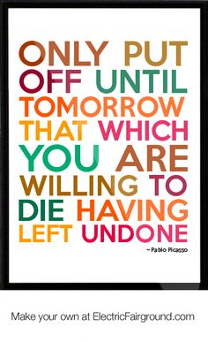 Pablo Picasso Framed Quote