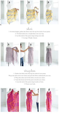 How to tie a pareo