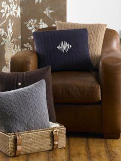 Cable Cashmere Throw Pillow - Ralph Lauren Home Throw Pillows - RalphLauren.com
