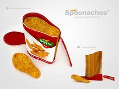 Spoonachos chip packaging