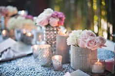 glittery tablescapes
