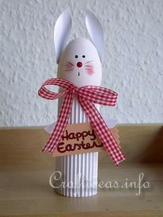 Easter Bunny...made out of cardboard tube