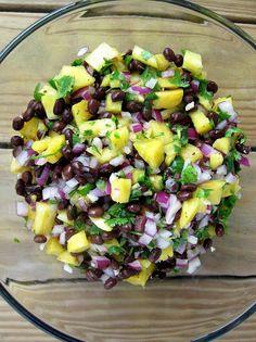 pineapple & black bean salsa