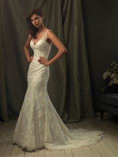 Allure Bridals : Couture Collection : Style C153 : Available colours : White/Silver, Ivory/Silver
