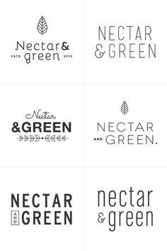 Nectar & Green Branding Process | Breanna Rose.