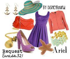 fashion, cloth, style, ariel, outfit, the little mermaid, disney bound, disneybound, disney inspir