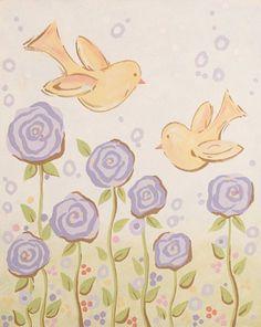 Blissful Chicks Canvas Room Décor | Carousel Designs