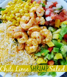 Spring Seafood Salads: Try this Chili Lime Shrimp Salad! Instead of peppers do avocados! Yum