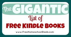 The Gigantic List of Free Kindle Books