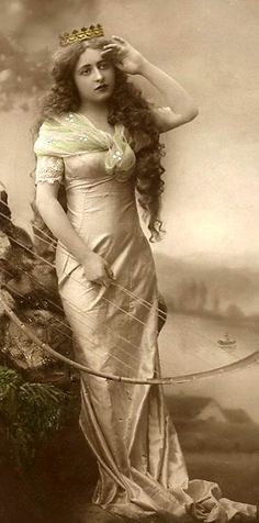 Bow huntress of olden days