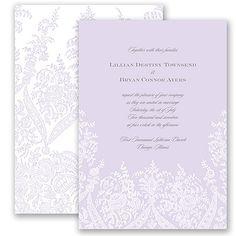 Garden Lace Wedding Invitation by David's Bridal #romanticweddings #weddinginvitation