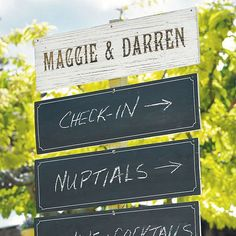 How cute is this chalkboard sign?