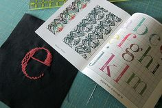 """"""" The pattern comes from Anna Maria's Needleworks Notebook, where a full suite of lowercase letters beckon."""""""