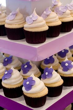 Great cupcakes - simple royal icing accent makes them look quite elegant