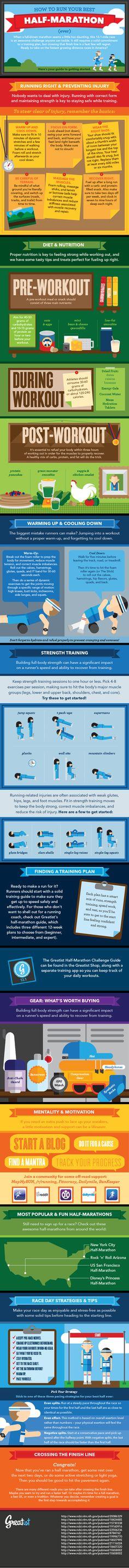 Smart tips for running a half marathon.