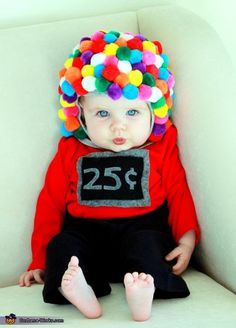 Gumball Machine Baby Costume. You could easily make this into an adult costume too. It would be hilarious.