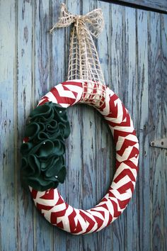 Chevron Door Wreath