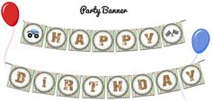 Monster Truck Party  HAPPY BIRTHDAY Banner by TheDigiButterflyPRTY, $6.00