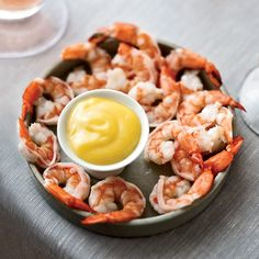 Boiled Shrimp with Spicy Mayonnaise // More Delicious Shrimp Dishes: http://www.foodandwine.com/slideshows/shrimp #foodandwine