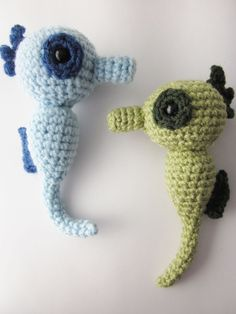 seahorse free crochet pattern by ursaminor