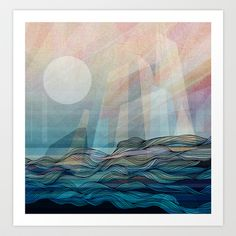 Arctic morning Art Print by Annike - $16.12