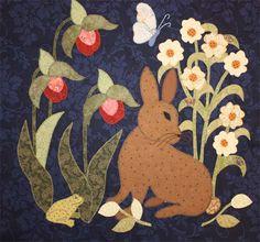 quilt, woodland creatur